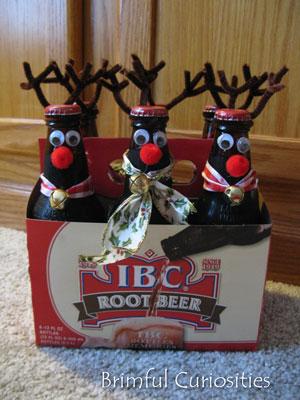 Beer Christmas Gifts.Brimful Curiosities Root Beer Reindeer Root Deer A