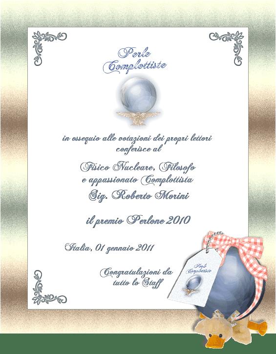 Attestato Premio Perlone 2010