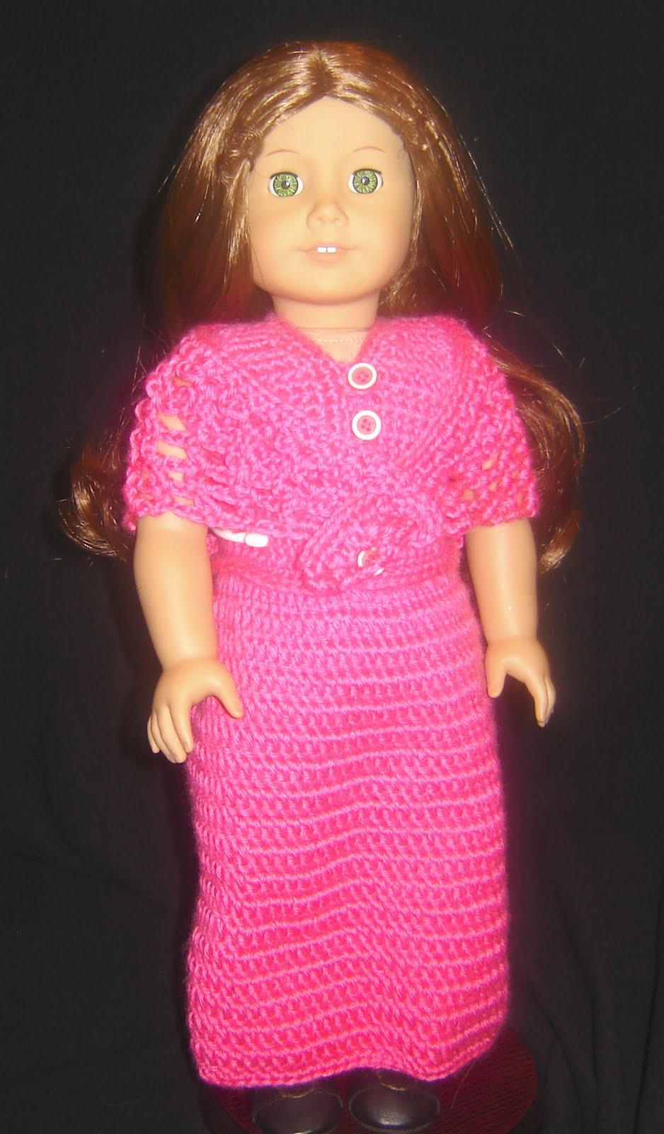 Bizzy Crochet Evening Dress W Shawl Pattern 18 Quot Doll