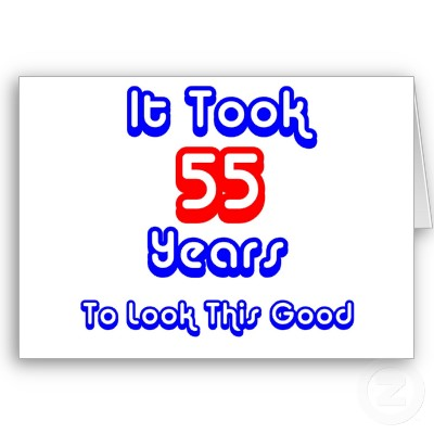 55th Birthday Wishes Cards
