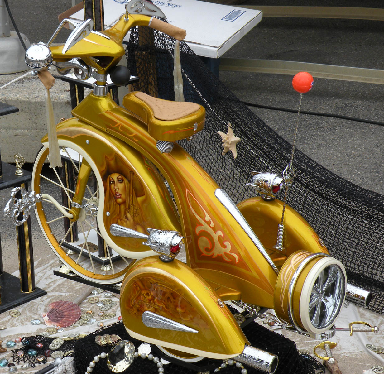 Just A Car Guy: 1935 Sky King Trike At Beatnik Blowout