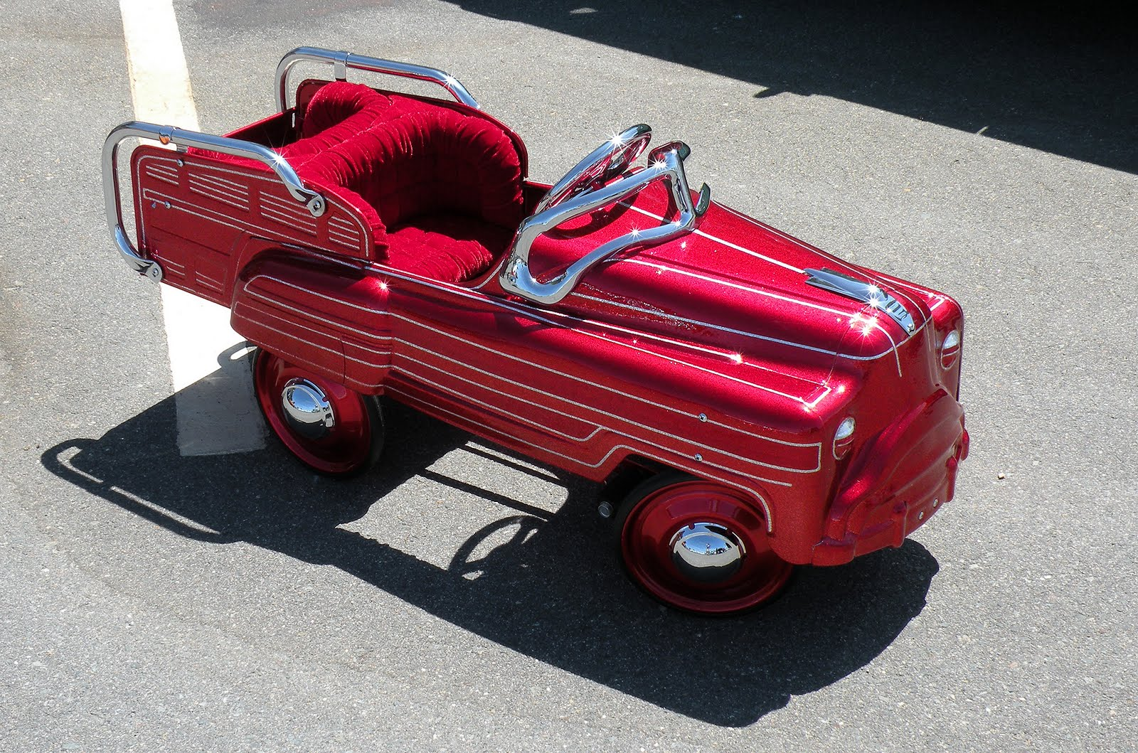 Just A Car Guy: Pedal Cars Painted In Panel Paint Lowrider