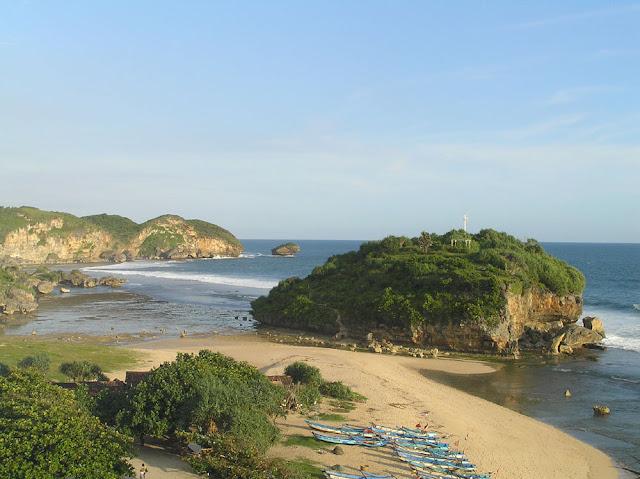 Pantai+Drini Peta Wisata (Pantai) di Gunungkidul, Yogyakarta