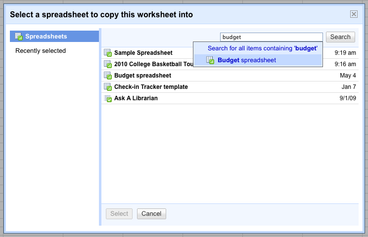 Google Drive Blog Copy Sheets From One Spreadsheet To Another