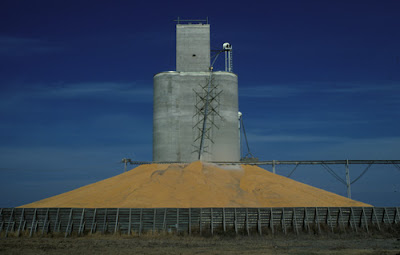Photo of a grain elevator, by Brian Cheney