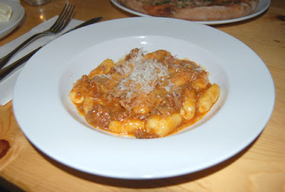 gnocchi with pork and chicken ragu sauce