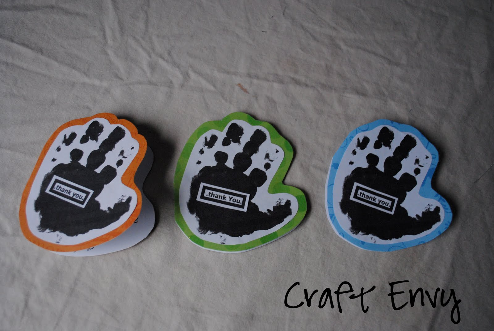 Craft Envy Handprint Thank You Cards