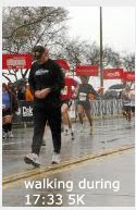 walking during 17:33 5K at Gasparilla