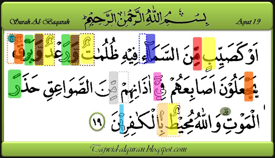 Mari Belajar Tajwid Alquran Surah Al Baqarah Ayat 19
