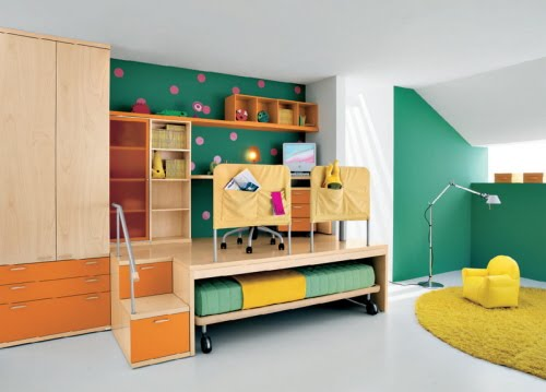 Kids bedroom cool furniture - Childrens small bedroom furniture solutions ...