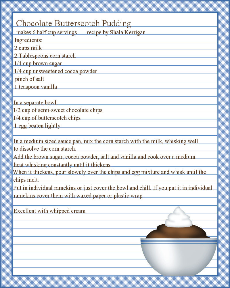 free online cookbook template - don 39 t eat the paste pudding recipe and printable recipe