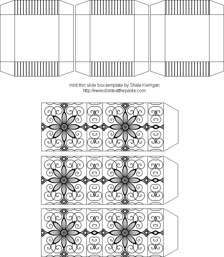 Don't Eat the Paste: Black and White Flower printable boxes