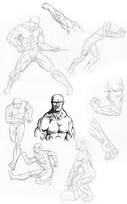 El cíclope bizco: Dibujos anatomía