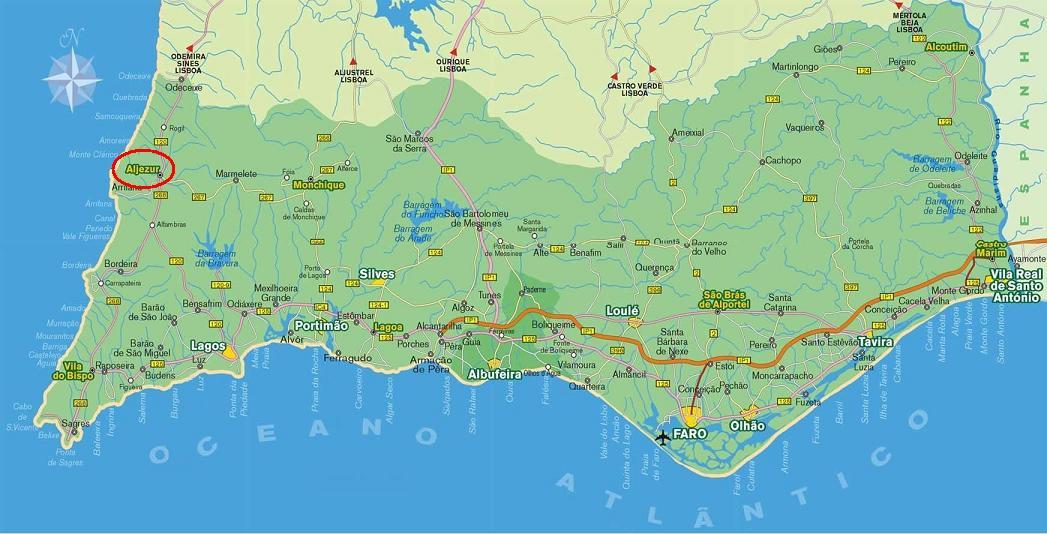 aljezur mapa Diário da turma 2: Aljezur aljezur mapa