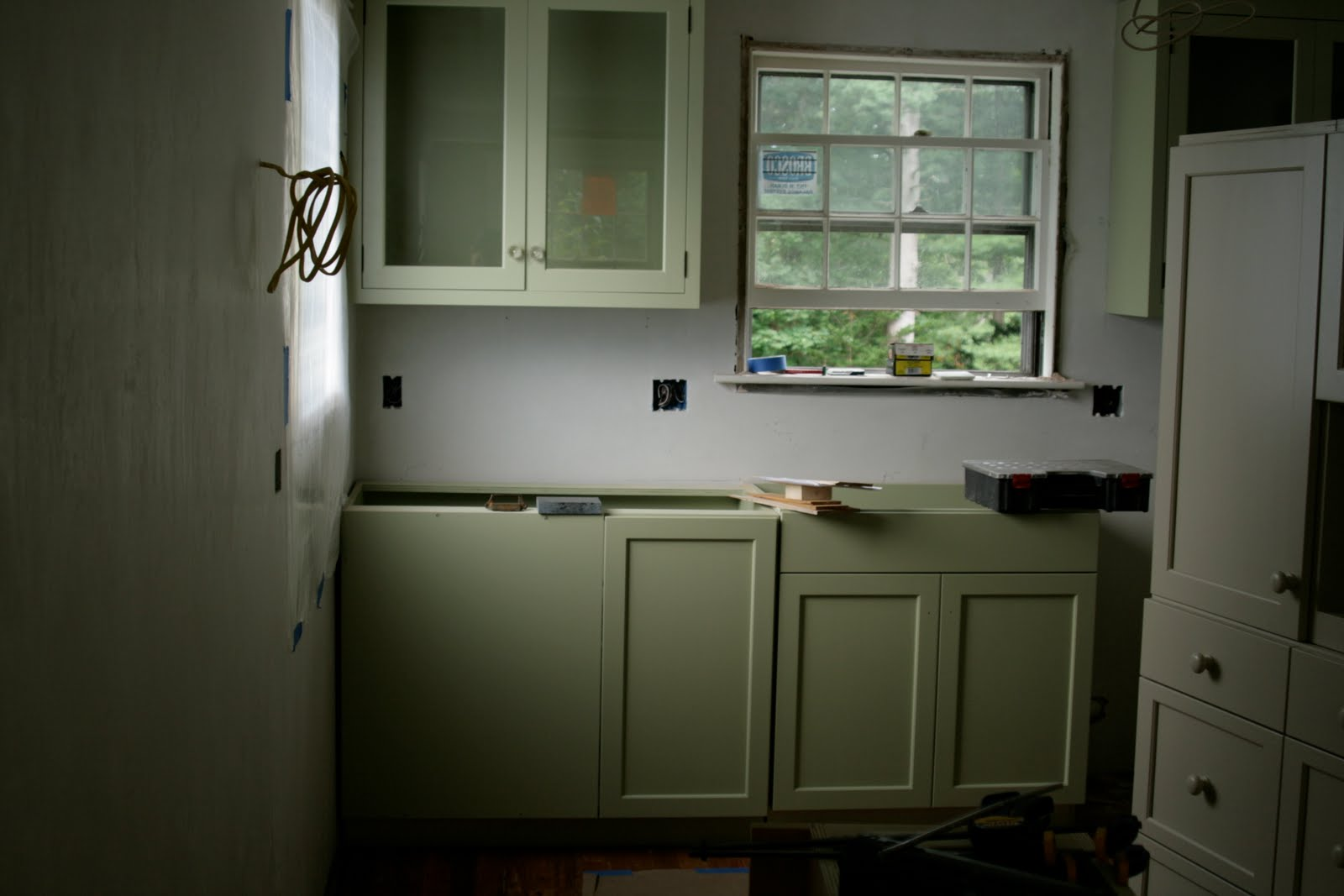 Green Kitchen Cabinets White Beadboard A Bluebonnet In Beantown Farrow And Ball Cooking Apple