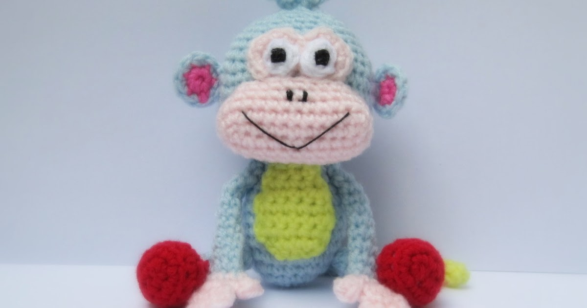 Spunky The Big Sock Monkey PDF Crochet Pattern | 630x1200