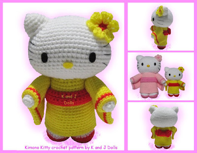 2000 Free Amigurumi Patterns: Hello Kitty Keyring | 310x400