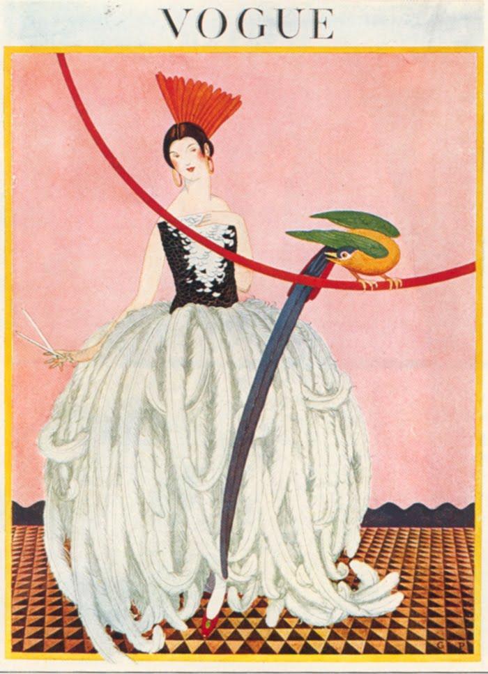 Mimi illustration: Vintage Vogue covers