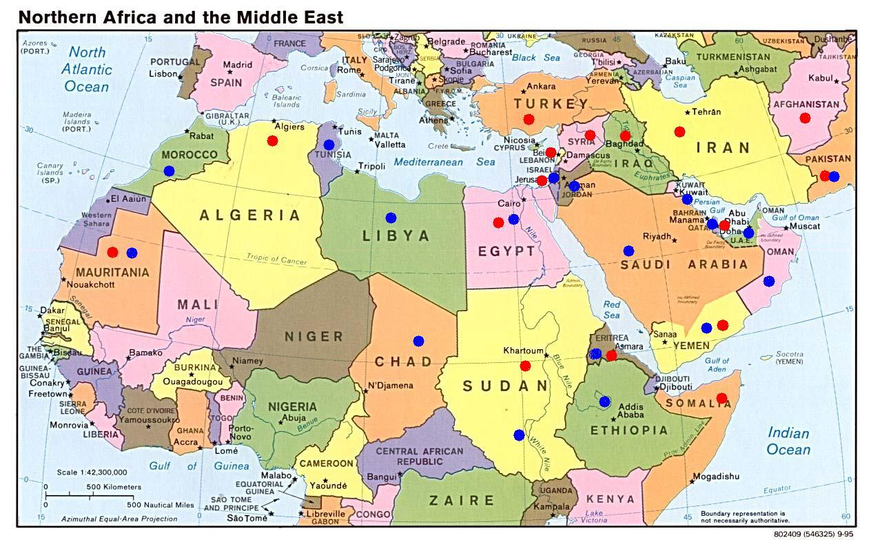 Blank Map Middle East North Africa | Jackenjuul