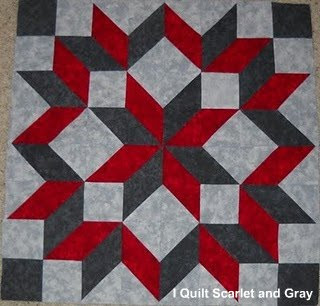 I Quilt Scarlet And Gray Marti Michell Perfect Patchwork
