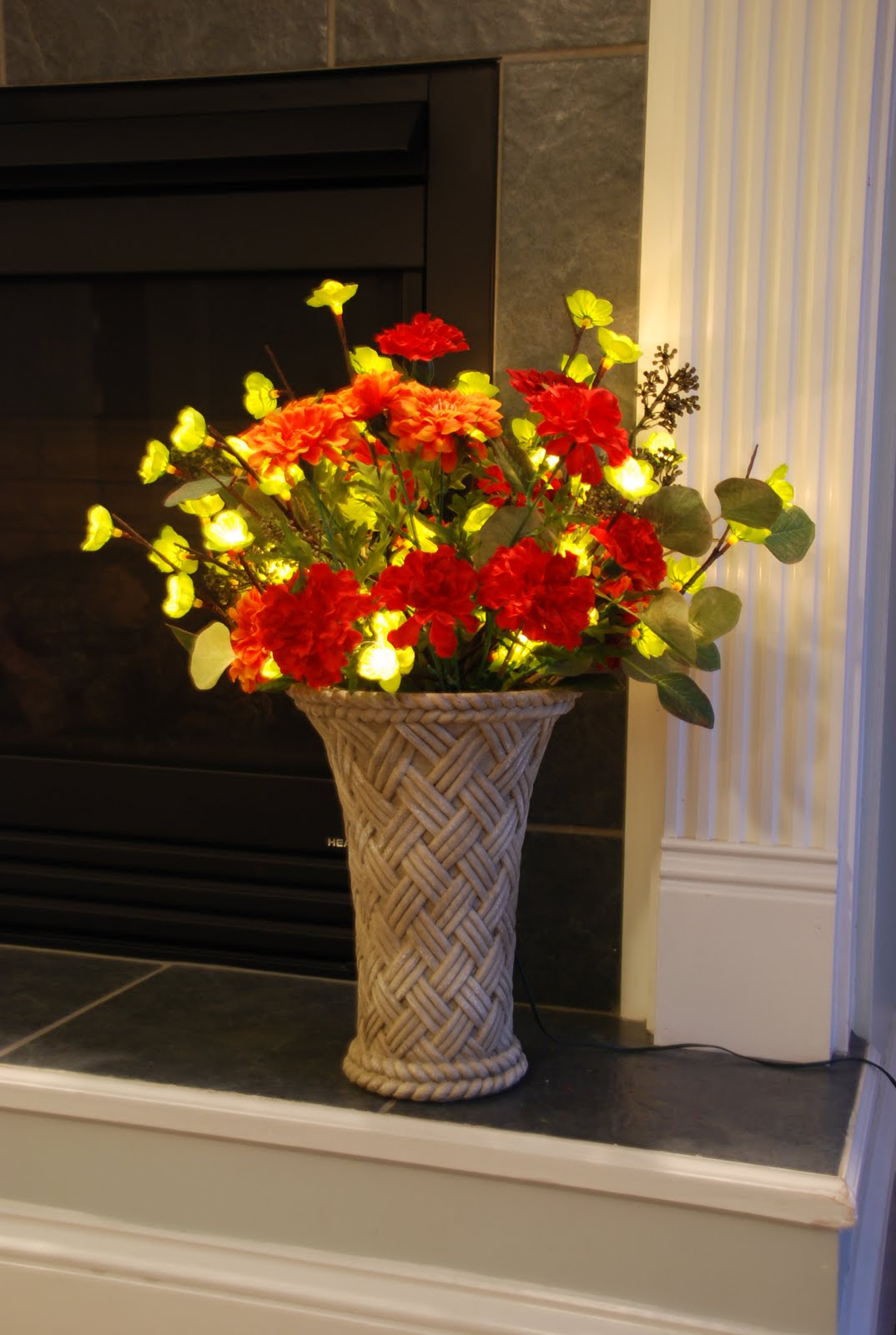 Floral Decor: Shelley B Decor And More: Lighted Flower Arrangement