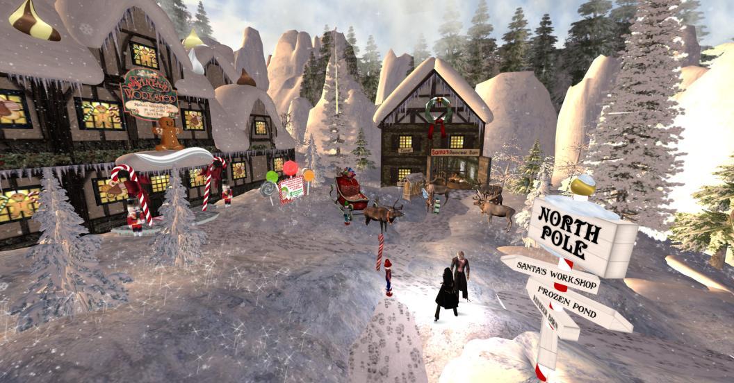 Sl Newser Places North Pole And Santa S Workshop