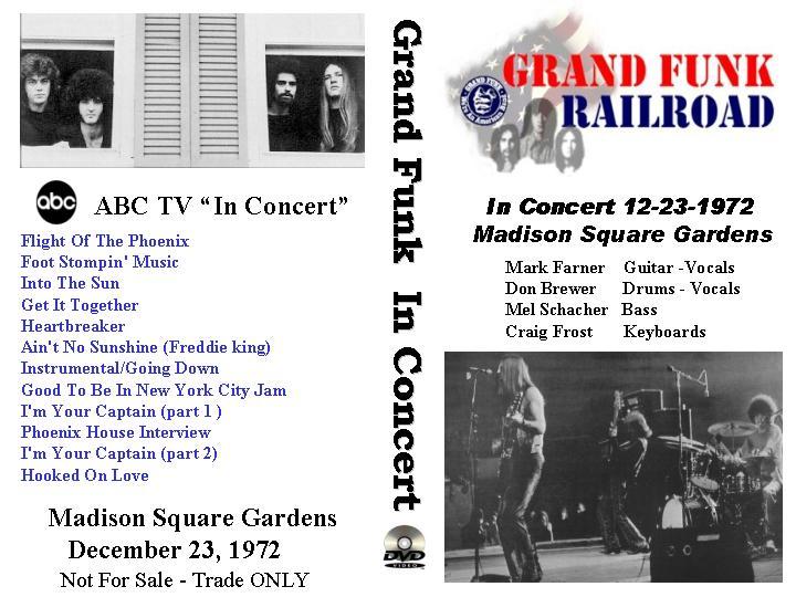 dvd concert th power by deer 5001 grand funk railroad 1972 12 23 madison square garden. Black Bedroom Furniture Sets. Home Design Ideas