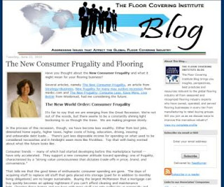 The New Consumer Frugality and Flooring by C.B. Whittemore