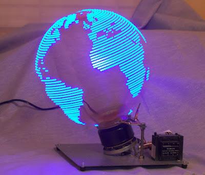 led animasyon havada dünya küre