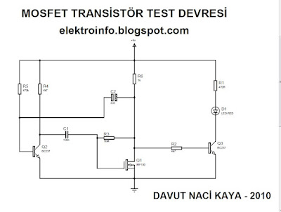 mosfet transistör test devresi