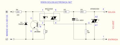 elektronik röle devre şeması