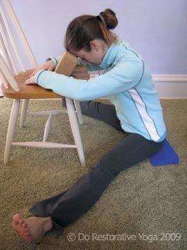 do restorative yoga supported wideangle fold  upavistha
