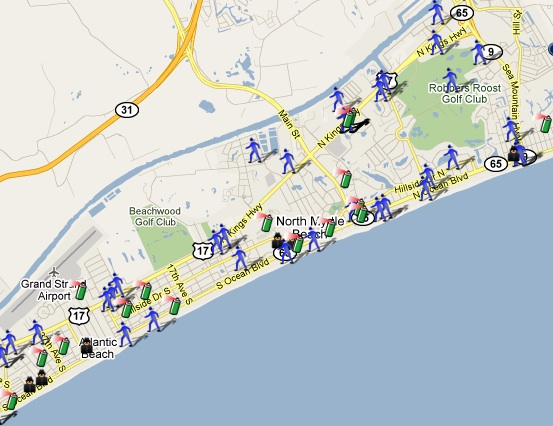 Map Of Myrtle Beach Sc North Myrtle Beach, SC Mapped! | SpotCrime   The Public's Crime Map Map Of Myrtle Beach Sc