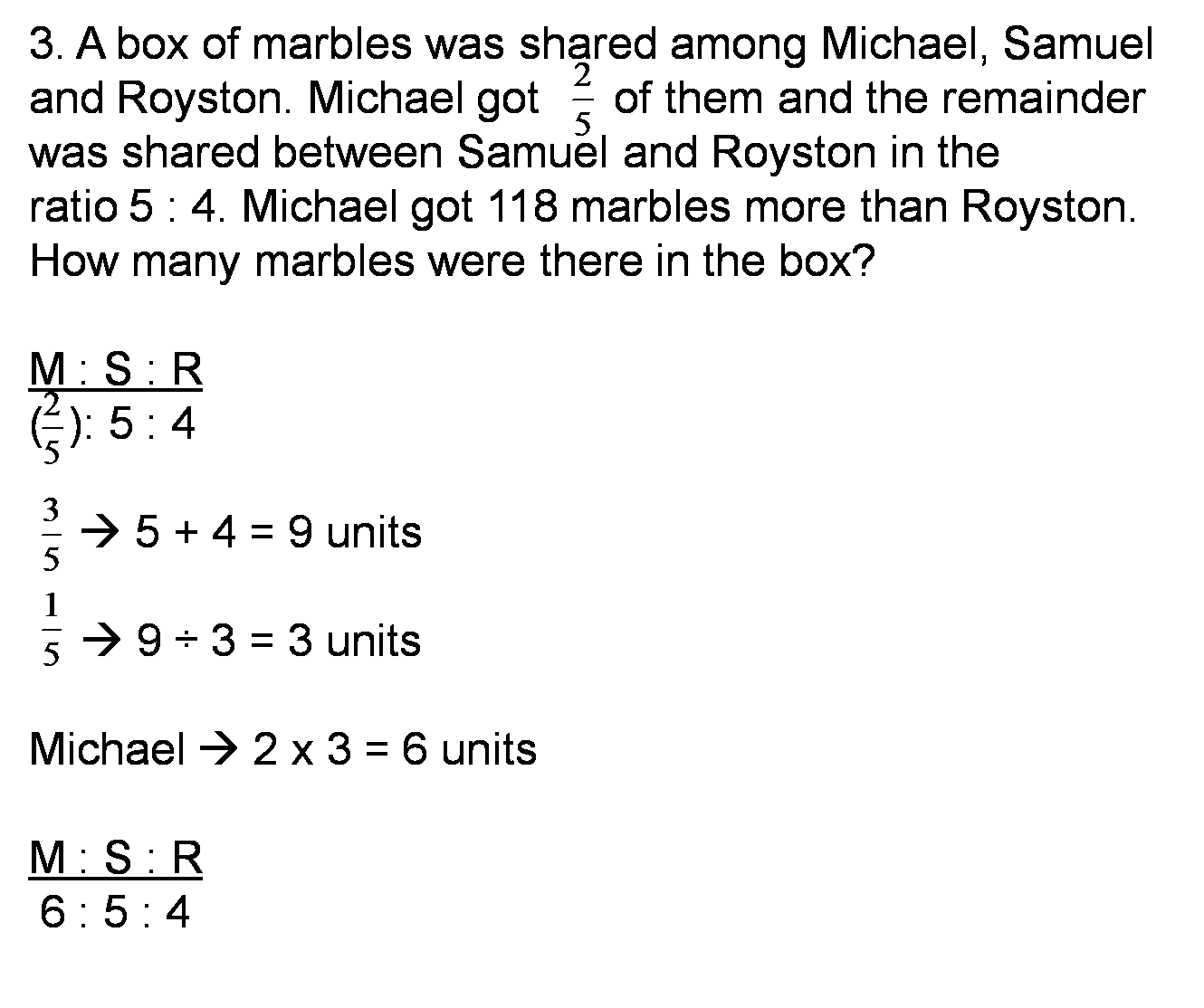 Maths On Street 53 Ratio Word Problems Solutions For Hw