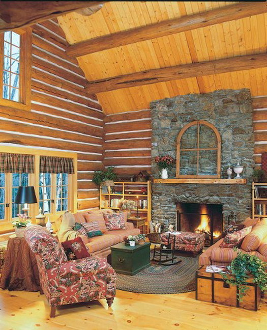 Log Home Decor: Home Tren Design: Log Home Cottage Style Decorating Ideas Tren