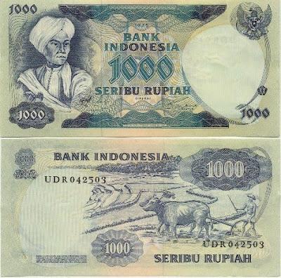 Uang Rp 1000 Tahun 1975