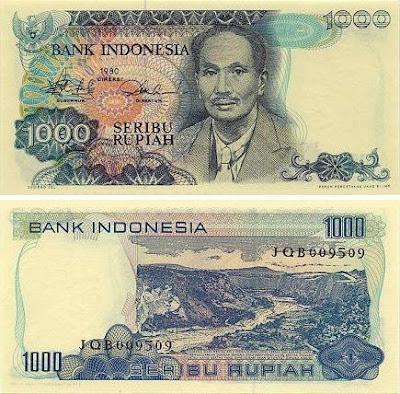 Uang Rp 1000 Tahun 1980