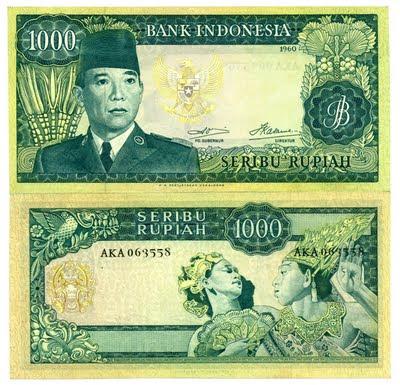 Uang Rp 1000 Tahun 1960
