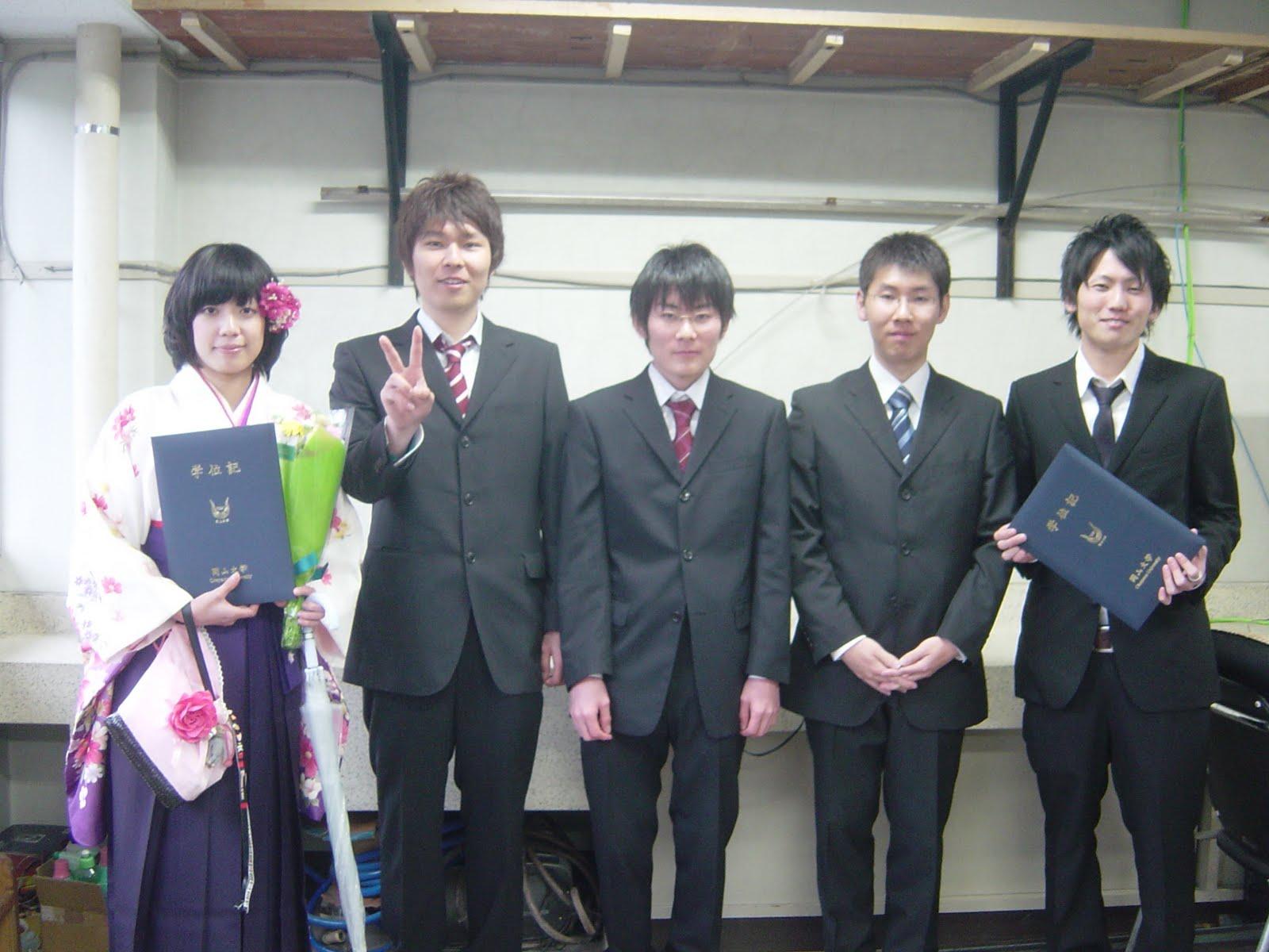 岡山大学・薄膜物性学研究室ブログ: 卒業式
