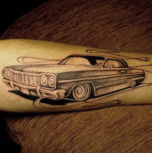 New Tattoos Trend Car Tattoo Design