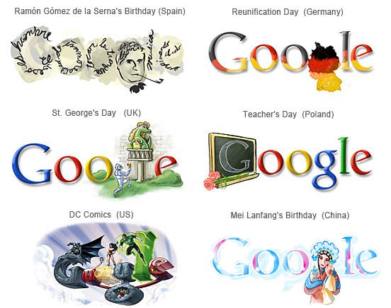 Enak Caaah Google Logos Collection