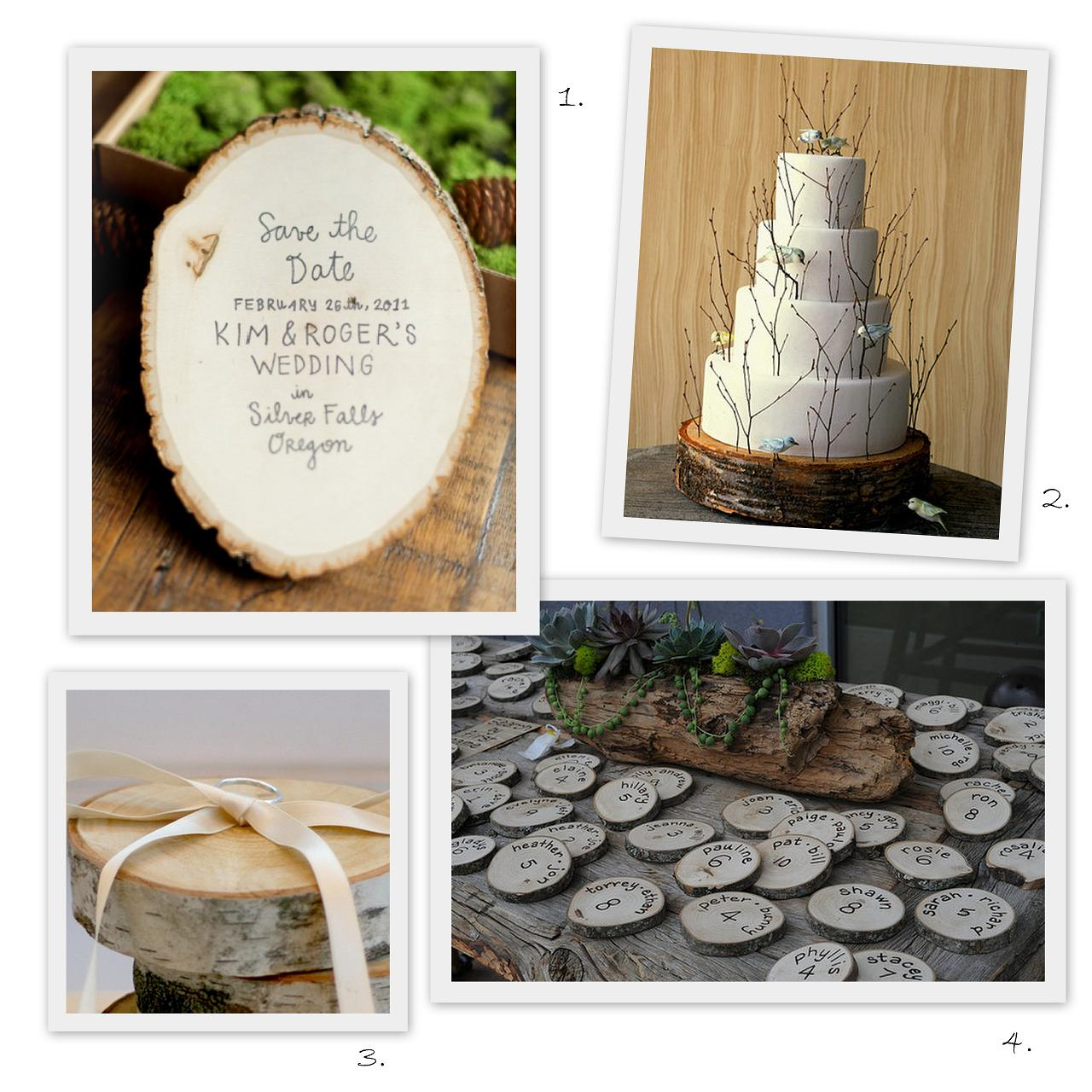 Woodsy Wedding Ideas: Postcards And Pretties: {friday Faves} Wood Slices