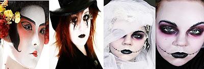 Макияж лица на Хэллоуин