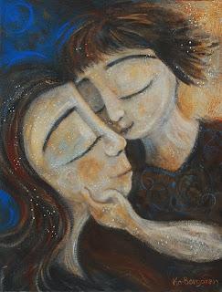 Motherhood Painting: Tender Affection