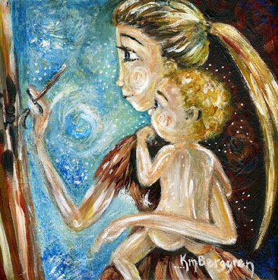motherhood painting by Katie m. Berggren