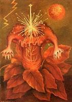 Image of Frida Kahlo's painting, Flower of Life