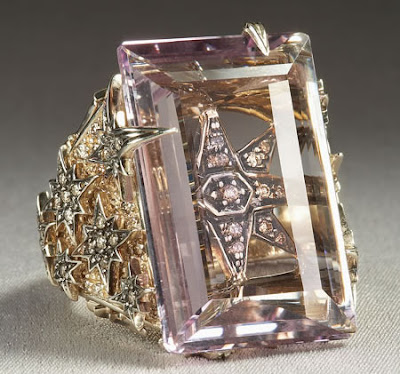 """Eclectic Jewelry and Fashion: H. Stern's Amethyst """"Stars"""" Ring"""