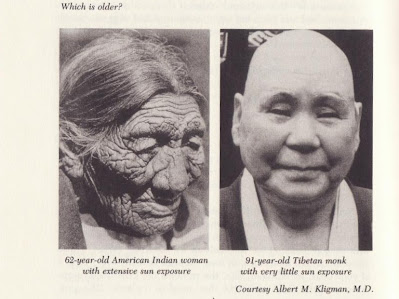 An American Indian woman and a Tibetan monk