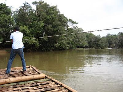 Raft for Crossing Kabini River at Kuruva Island, Wayanad