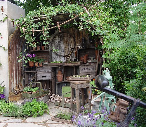 .The Old French Doors: The Ever Enchanted Cottage Gardens